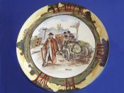 Royal Doulton Early Motoring 'Deaf' Dished Rack Plate D2406 c1910